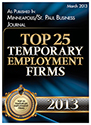 Top 25 Temporary Employment Firms